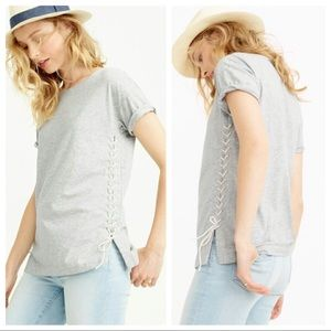 J. Crew | Lace-Up Tee